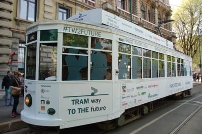 Press lunch tram-way fuorisalone Milano