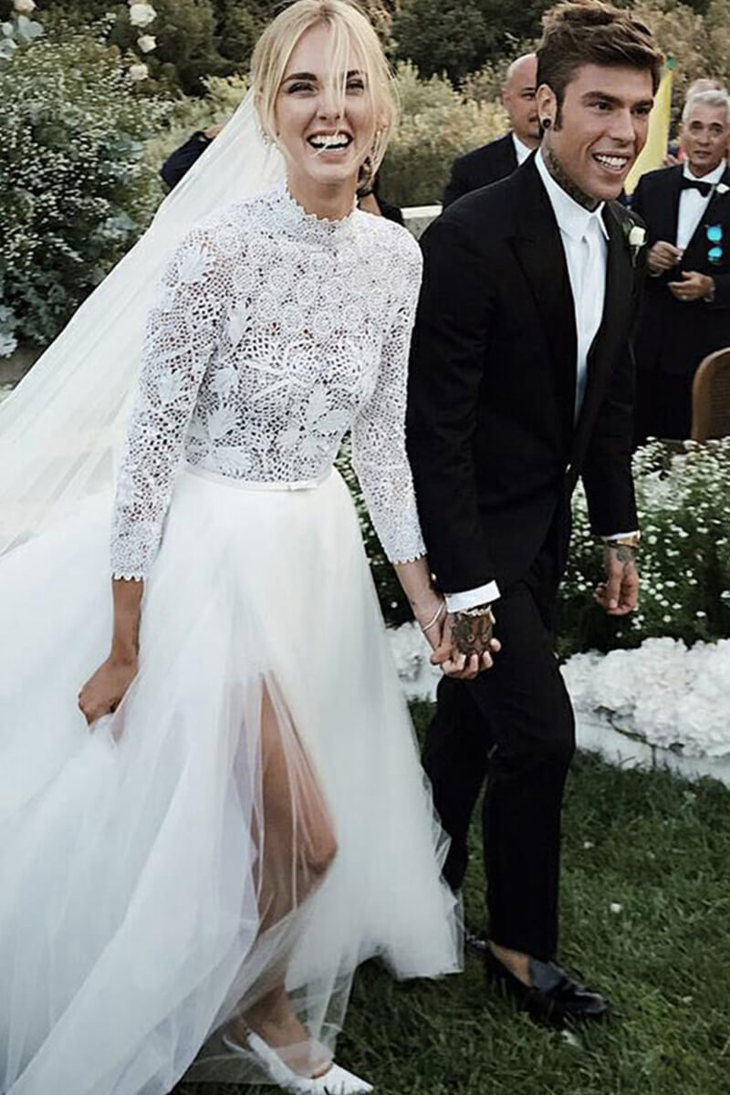 abiti da sposa vip The Ferragnez - Life&People Magazine lifeandpeople.it