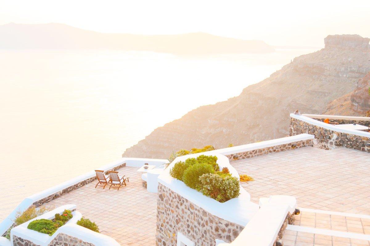 terrazza vista mare hotel di lusso