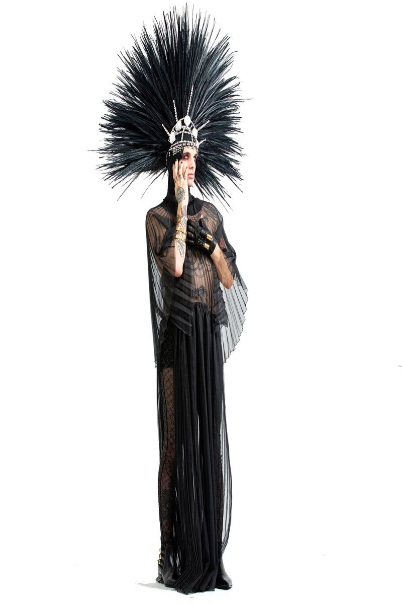 Achille Lauro costume Marchesa Casati Life&People Magazine LifeandPeople.it