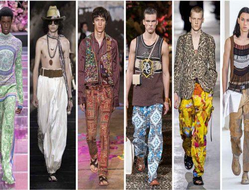 I pantaloni etnici da uomo? Paisley, floreali e animalier