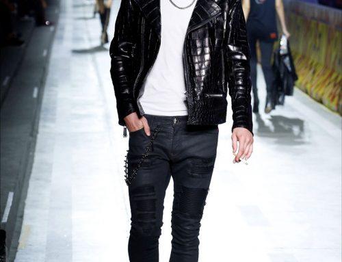 Il look street style uomo: la giacca in pelle