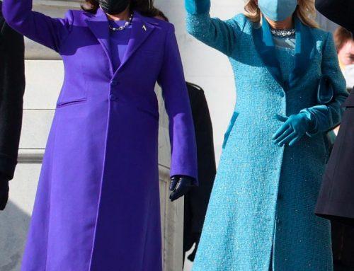 Il cappotto viola di Kamala Harris: la nuova tendenza moda
