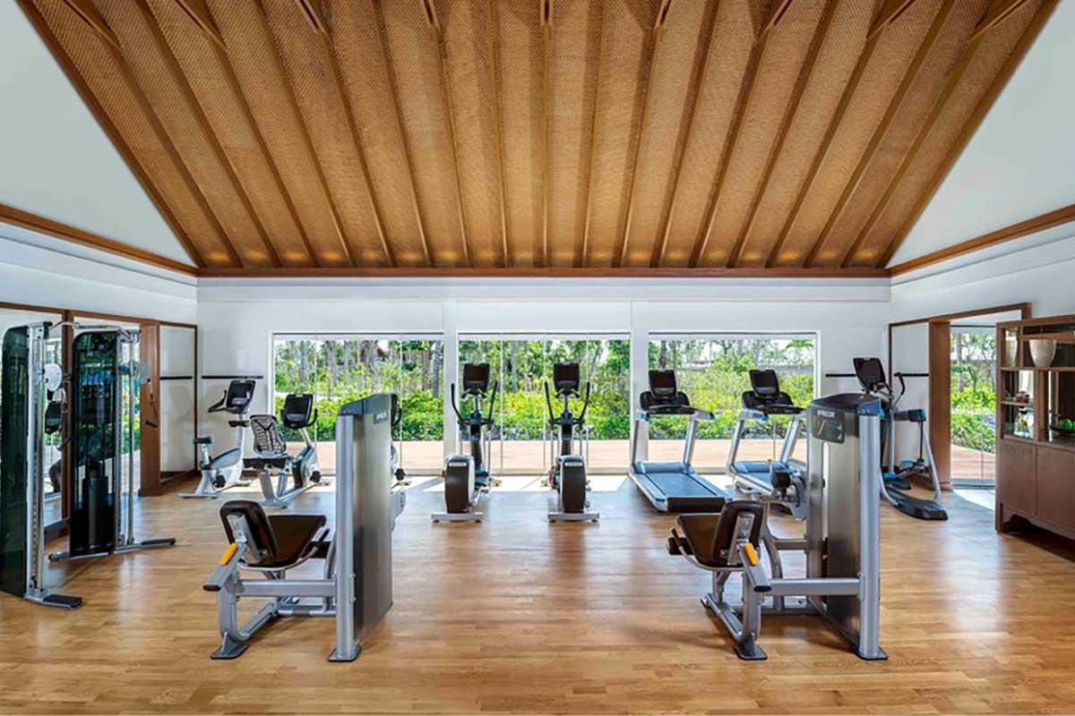 fitness center Waldorf Astoria Maldive Life&People Magazine LifeandPeople.it