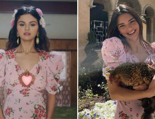 Selena Gomez e Kendall Jenner indossano un dress floreale firmato Rodarte: è l'abito Pink Daisy