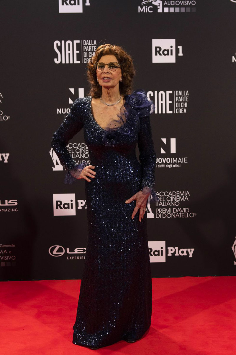 Sofia Loren David Donatello 2021 LIFE&PEOPLE MAGAZINE LIFEANDPEOPLE.IT