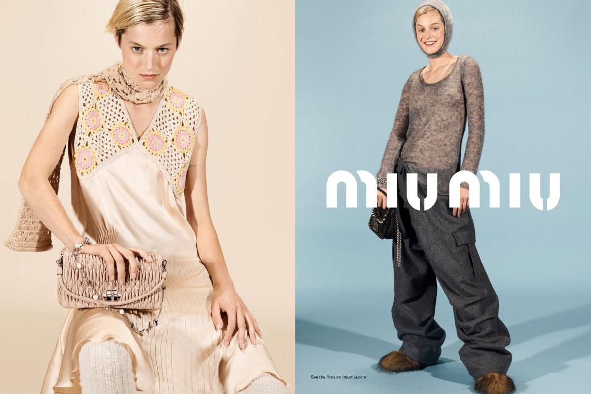 Emma Corrin volto campagna Miu Miu Autunno Inverno 2021 2022 Life&People Magazine LifeandPeople.it