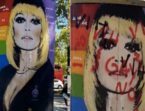 Raffaella Carrà: oltraggio al suo murale a Barcellona